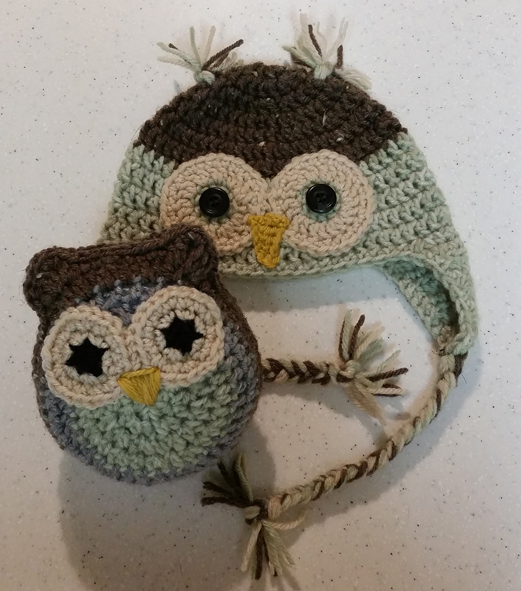 Owl Crocheted Hat And Toy